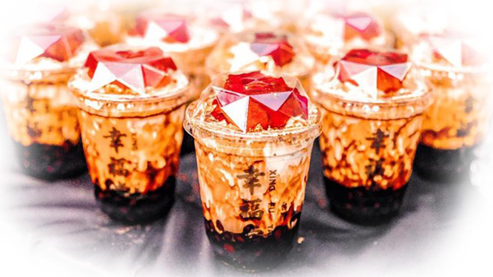 幸福堂玫瑰黑糖珍珠鮮奶